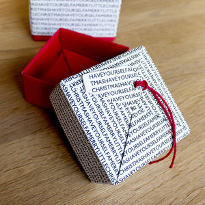 Personalised Christmas Message Box - gift boxes