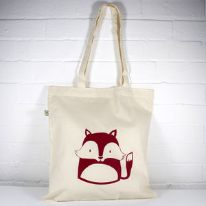 Fox Organic Cotton Tote Bag - shopper bags
