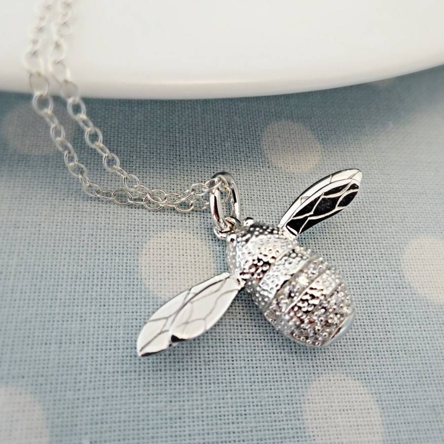 bee silver sophiejonesjewellery bumblebee jones by personalised necklace product original sophie jewellery