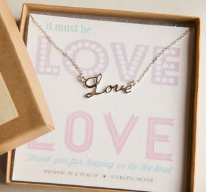 It Must Be 'Love' Necklace - women's jewellery