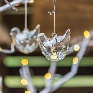 Glass Hanging Bird - tree decorations