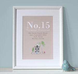 Personalised Family Home Print - home sale