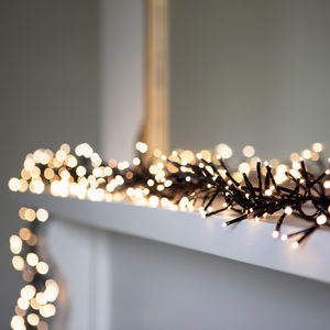 Long Warm White Cluster Fairy Lights