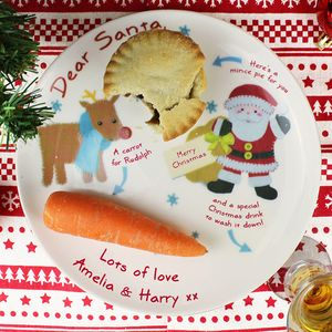 Dear Santa Personalised Mince Pie Plate