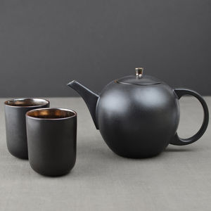 Bronze Ceramic Teapot And Cup Set - new home gifts