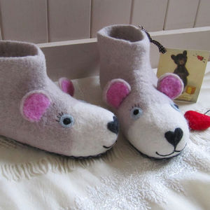 Mummy Bear Slippers
