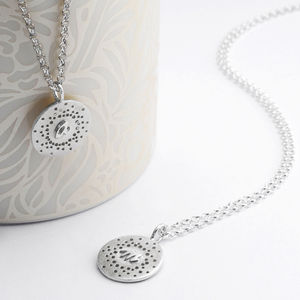 Personalised Patterned Charm Necklace - monogram & script