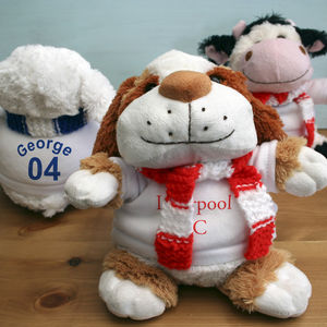 Personalised Football Teddy - soft toys & dolls