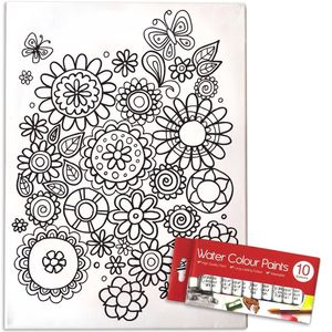 Paint Your Own Canvas Kit Flower Power