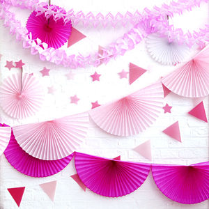 Pink Hen Party Garlands And Bunting Collection