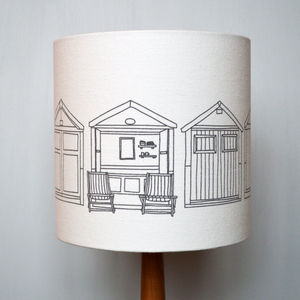 Beach Hut Lampshade - lampshades