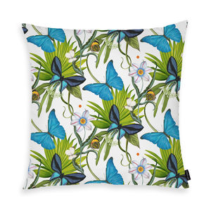 Grand Morpho Cushion - fresh floral homeware