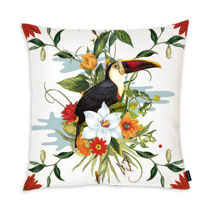 Toco Toucan Cushion - living room