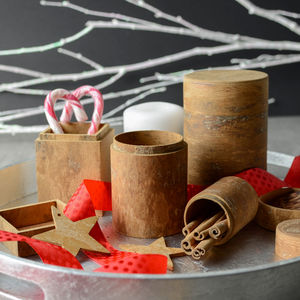 Aromatic Cinnamon Bark Storage Box