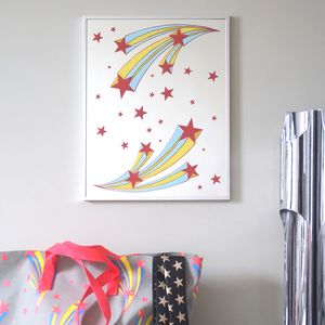 Shooting Stars Mirror - nursery pictures & prints