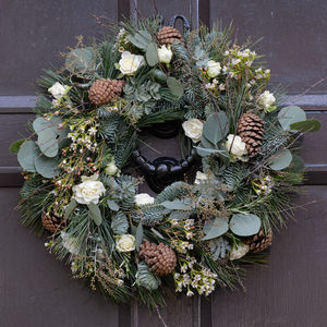 Wild Hedgerow Festive Door Wreath - wreaths