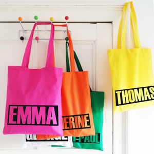 Personalised 'Name' Shopper Tote Bag