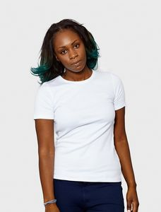 Womens Luxury Organic Cotton Classic White T Shirt - tops & t-shirts