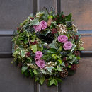10% Off Blush Rose And Apple Woodland Wreath