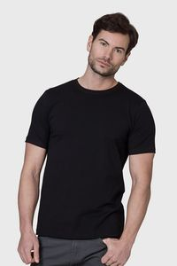 Men's Luxury Organic Cotton Fitted Black T Shirt