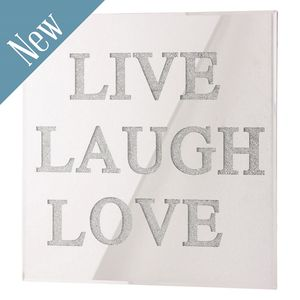 Live Laugh Love Wall Mirror With Swarovski Crystals