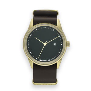 Hypergrand Maverick Oak Brown Leather Watch - watches