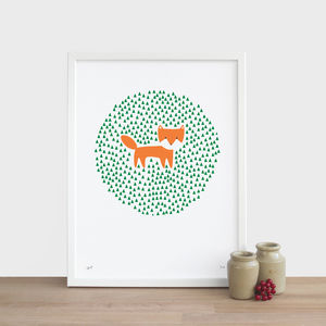 Fox In The Grass Print - pictures & prints for children
