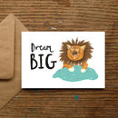 'Dream Big' Cat Card
