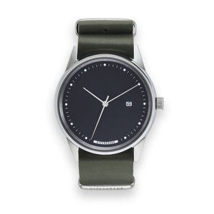 Hypergrand Maverick Oxley Green Leather Watch