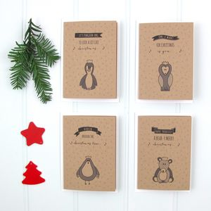 Pack Of Four Christmas Song Puns Cards - whatsnew
