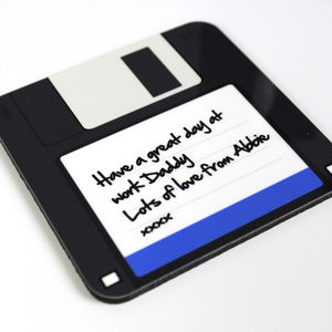 Geeky Floppy Disc Coaster - token gifts for dad