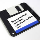 Geeky Floppy Disc Coaster
