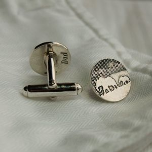 'Dad And Me' Dad Cufflinks