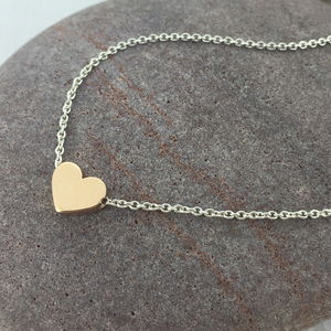 Rose Gold Chunky Heart Necklace - necklaces & pendants