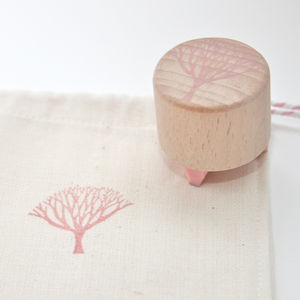 Little Winter Tree Hand Carved Rubber Stamp