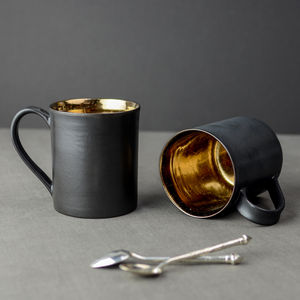Bronze Glaze Ceramic Tea Mug - mugs