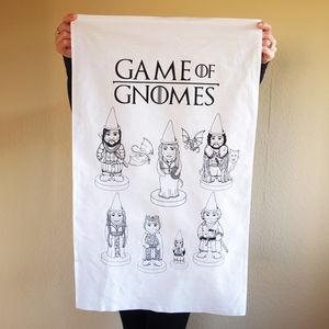 Game Of Gnomes Tea Towel - kitchen linen