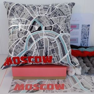 Contemporary Moscow City Map Tapestry Kit - interests & hobbies