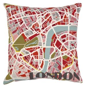 Contemporary London Light City Map Tapestry Kit