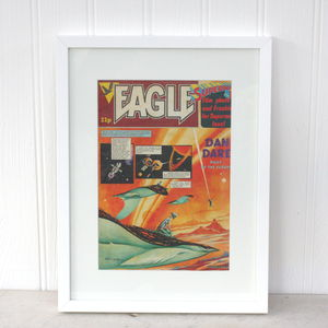 Framed Vintage Dan Dare Space Comic