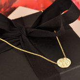 Yes Gold Coin Necklace - trends