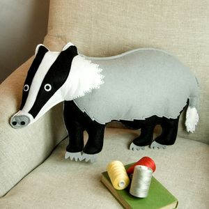 Badger Cushion - woodland nursery