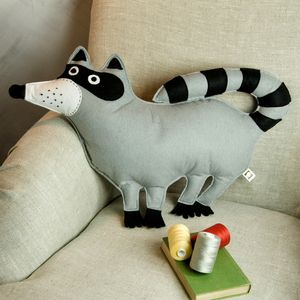 Raccoon Cushion - children's room