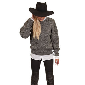 Women's Kilmarnock Aran Sweater - jumpers & cardigans