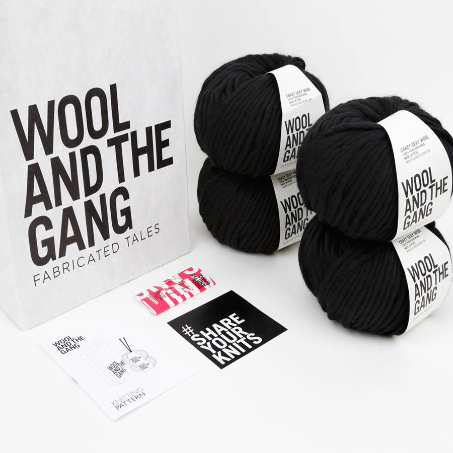 Tartan lula hoop scarf knitting kit by wool and the gang - Gang and the wool ...