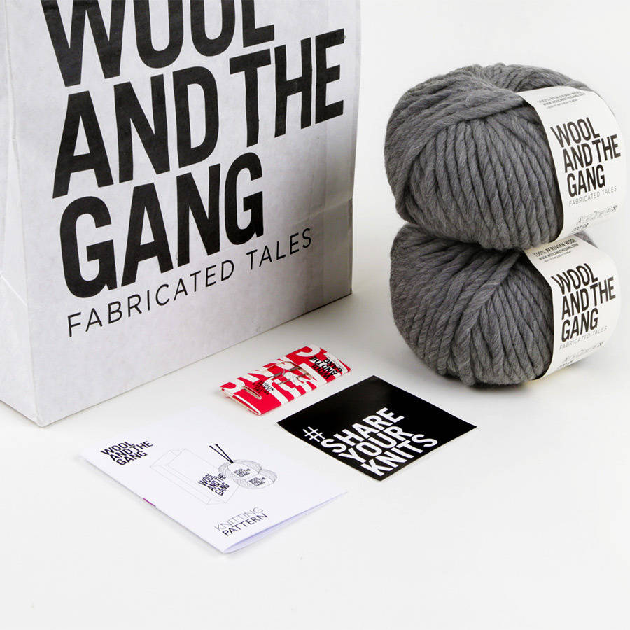 Snood Dog Knitting Pattern Wool And The Gang : snood dogg scarf knitting kit by wool and the gang ...