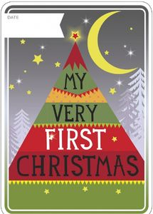 My Very First Christmas Milestone Card - cards