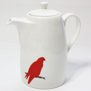 Red Parrot Coffee Pot - tableware