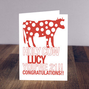 Holy Cow You're… Birthday Card