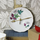 Blue And Pink Leaf Blossom Vintage Tea Wall Clock